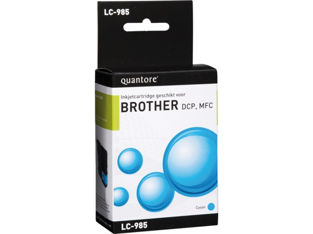 Inkcartridge Quantore Brother LC-985 blauw
