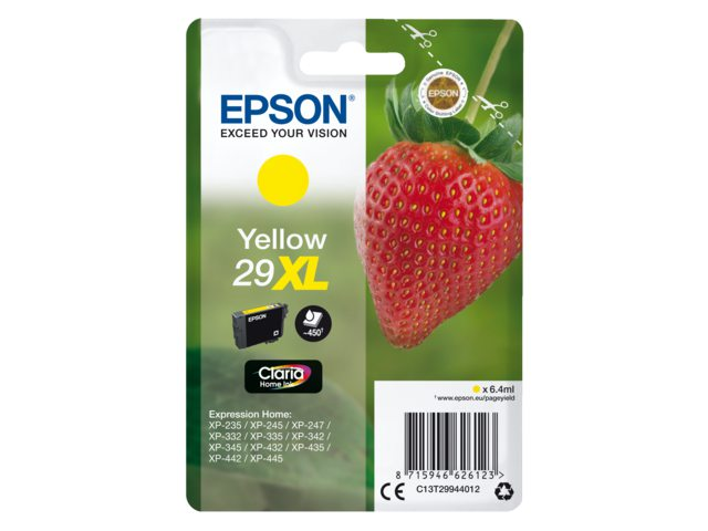 Inkcartridge Epson 29XL T2994 geel HC