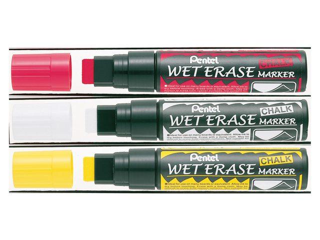 Viltstift Pentel SMW56 krijtmarker wit 8-16mm