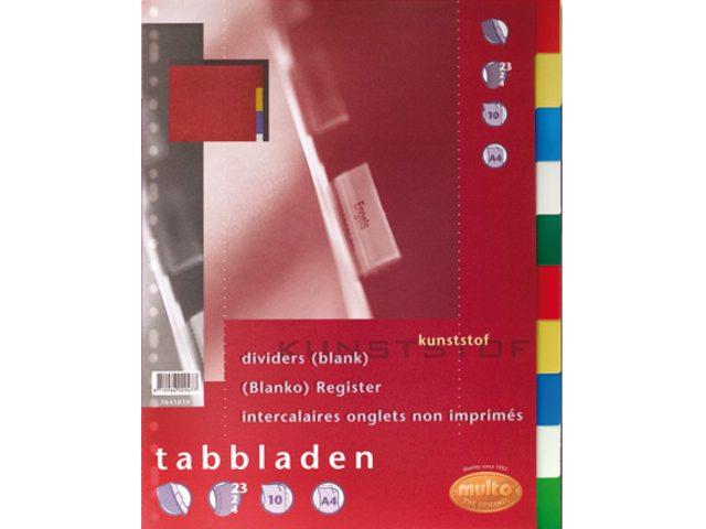 Tabbladen Multo 23-gaats 7041010 10-delig assorti PP