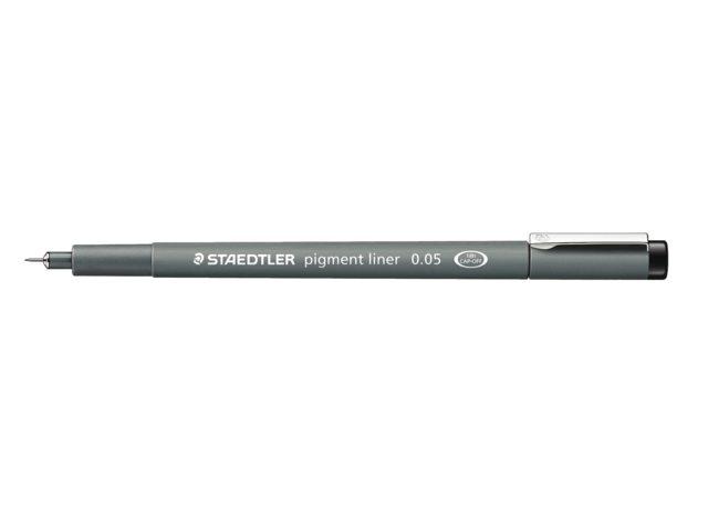 Fineliner Staedtler Pigment 308 zwart 0.05mm