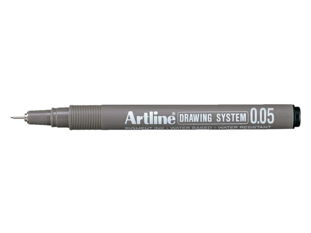 Fineliner Artline zwart 0.05mm