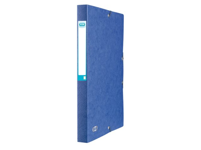 Elastobox Elba A4 25mm met rugetiket blauw