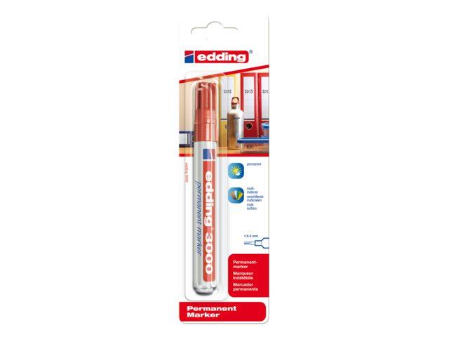 Viltstift edding 3000 rond rood 1.5-3mm blister