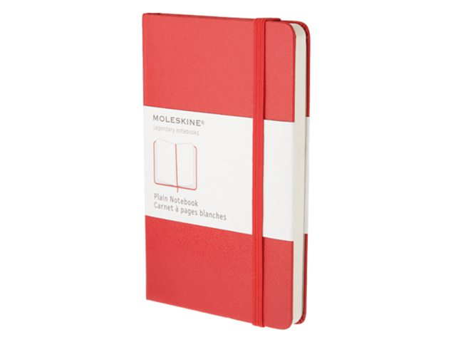 Notitieboek Moleskine blanco pocket 90x140mm rood