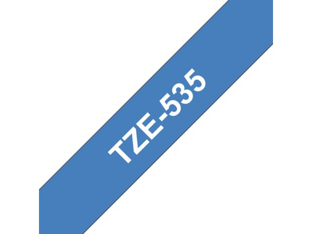 Labeltape Brother P-touch TZE535 12mm wit op blauw