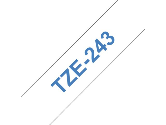 Labeltape Brother P-touch TZE243 18mm blauw op wit