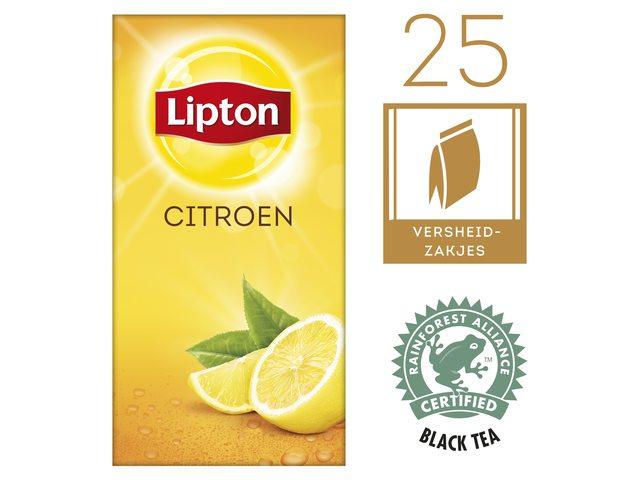 Thee Lipton Lemon met envelop 25stuks