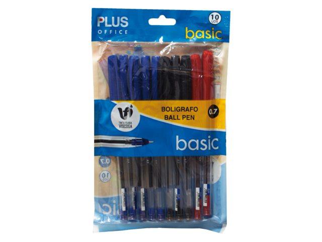 Balpen Plus Office stick assorti blister medium