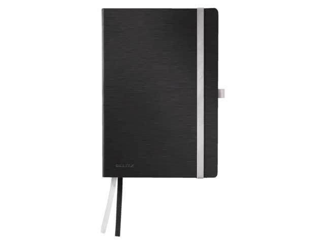 Notitieboek Leitz Style zachte kaft A5 gelinieerdsatijnzwart