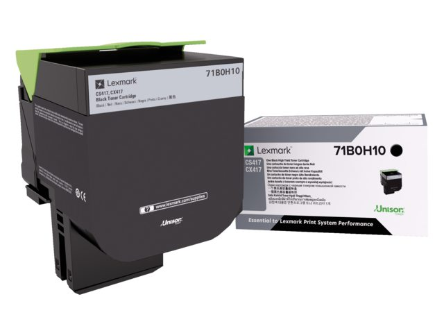 Tonercartridge Lexmark 71B0H10 zwart HC