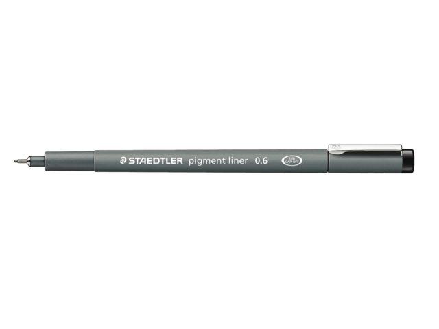 Fineliner Staedtler Pigment 308 zwart 0.5mm