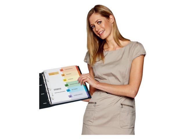 Tabbladen Avery 9-gaats 01735501 10-delig printbare tabs
