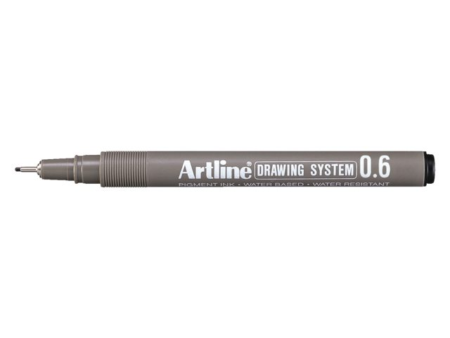 Fineliner Artline zwart 0.6mm