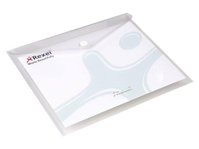 Enveloptas Rexel ice A5 transparant