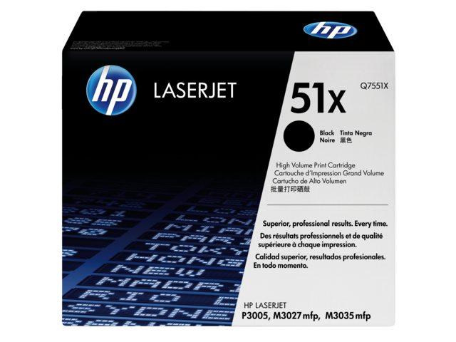 Tonercartridge HP Q7551X 51X zwart HC