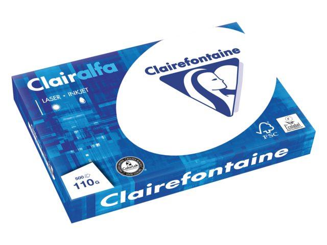Kopieerpapier Clairefontaine Clairalfa A3 110gr wit 500vel