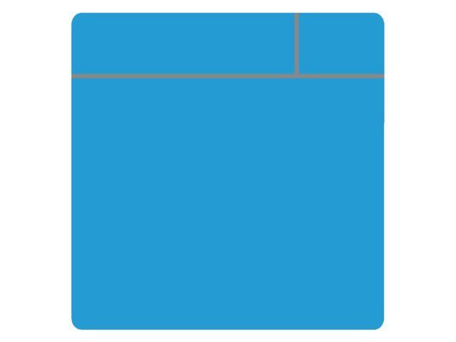 Magneet TNP scrum 7.5cmx7.5cm lichtblauw