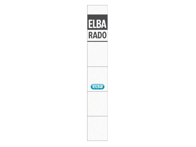 Rugetiket Elba Rado insteekkaart 159x24mm smal wit