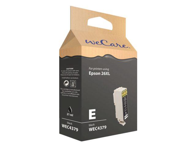 Inkcartridge Wecare Epson T262140 zwart HC