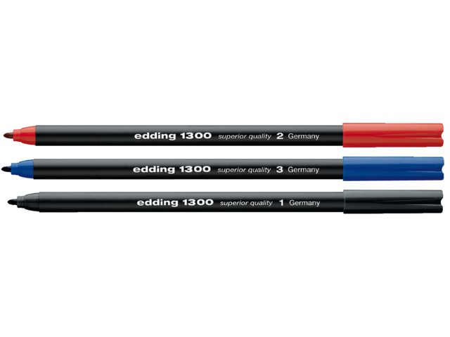 Fineliner edding 1300 blauw 2mm
