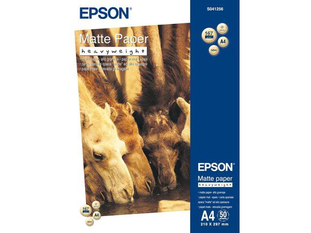 Inkjetpapier Epson SO41256 A4 mat 167gr 50vel