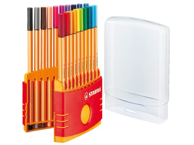 Fineliner Stabilo Point 88 20stuks assorti colorparade