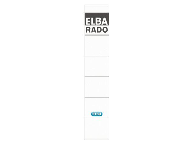 Rugetiket Elba clic 34x190mm zelfklevend wit/grijs