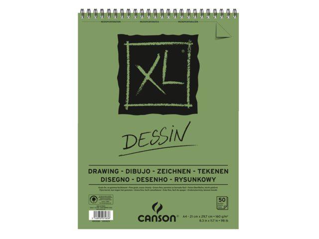 Tekenblok Canson XL Dessin A4 160gram 50vel spiraal