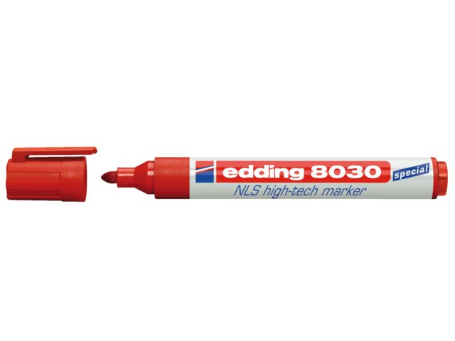 Viltstift edding 8030 NLS High-Tech marker rood 1.5-3mm