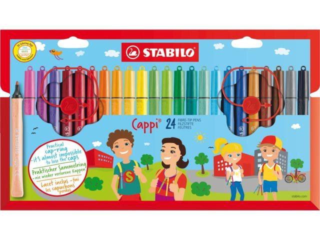 Viltstift Stabilo Cappi 168/24-1 24stuks assorti