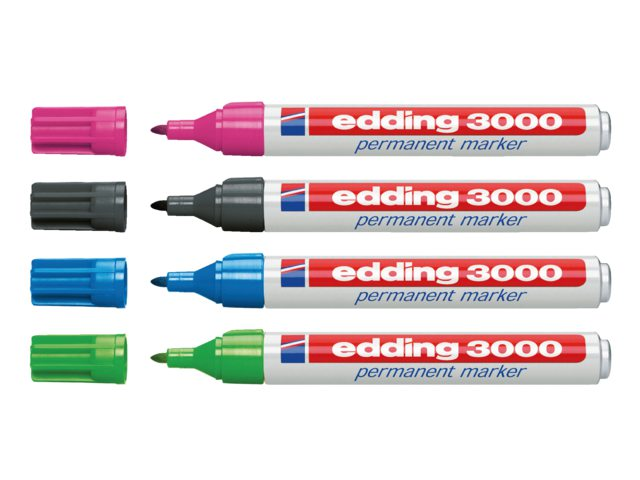 Viltstift edding 3000 rond lichtgroen 1.5-3mm