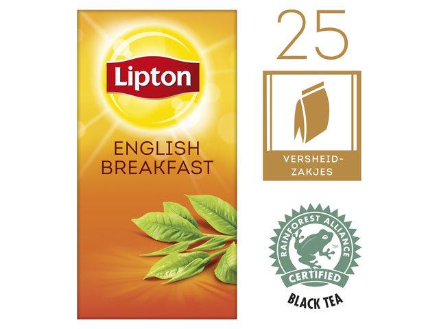 Thee Lipton Breakfast met envelop 25stuks
