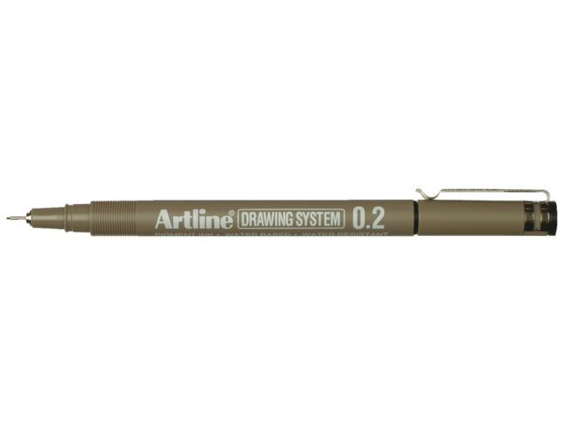 Fineliner Artline zwart 0.2mm