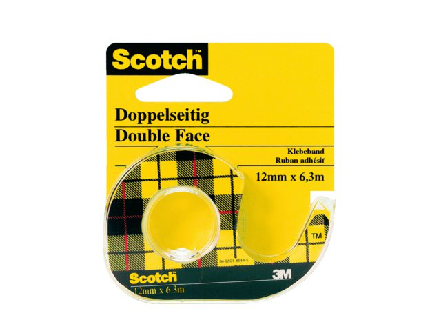 Dubbelzijdige plakband Scotch 665 12mmx6.3m + dispenser
