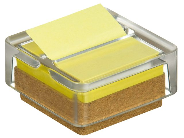 Memoblokdispenser 3M Post-it Z-Notes R330 glas +12 blok geel