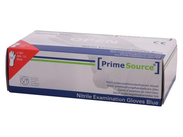 Handschoen PrimeSource Nitril ongepoederd Medium blauw