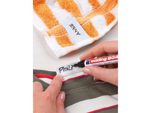 Viltstift edding 8040 wasgoed rond zwart 1mm blister