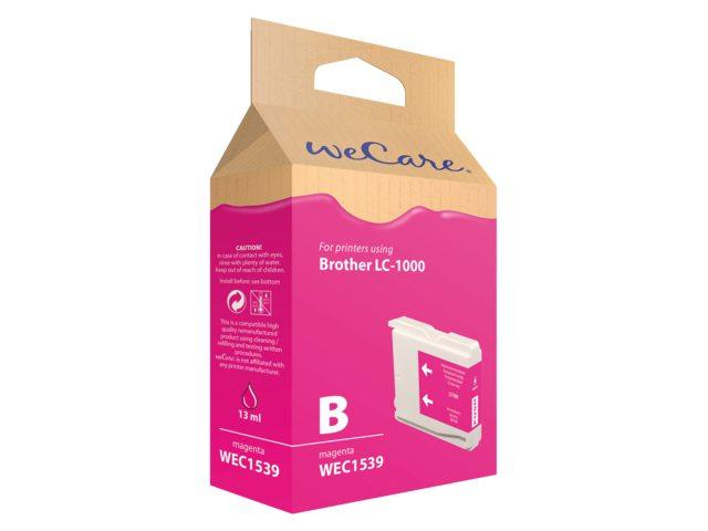 Inkcartridge Wecare Brother LC-1000 rood