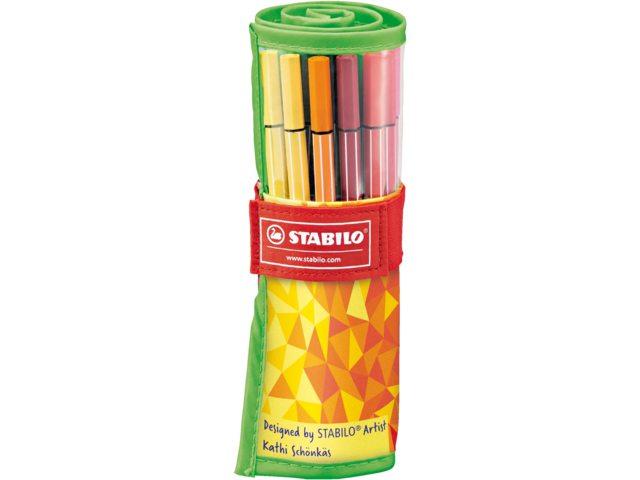 Viltstift Stabilo 68 Fan Edition 25stuks ass