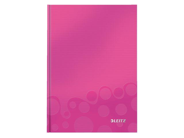 Notitieboek Leitz WOW A5 gelinieerd roze