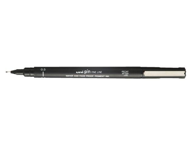 Fineliner Uni-ball Pin zwart 0,5mm