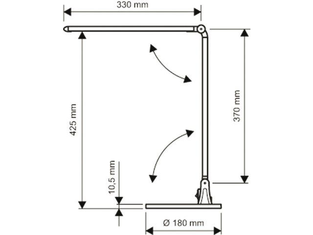 Bureaulamp Maul Stream ledlamp met voet zwart