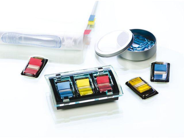 Indextabs 3M Post-it C2011 dispenser +3 kleur tabs